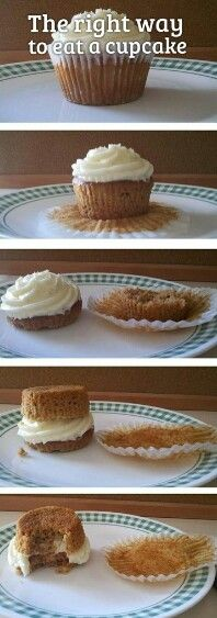 How to eat a cupcake the right way