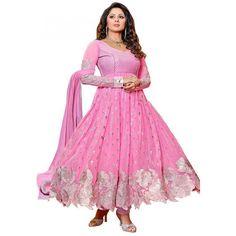 FASHIONX SANHITA GHOSH PINK UNSTITCHED DRESS MATERIAL