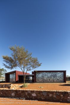 Award winning architecture + laser cut screens for the Wanarn Clinic Western Australia. Aboriginal artwork was translated to the screens. Pretty incredible right?!