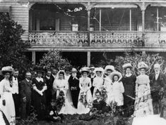 Rockhampton wedding party and group photo, Queensland, ca. 1906