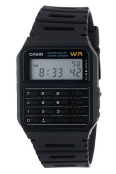 Casio Classic Digital Calculator Watch Alarm Stopwatch Day/Date Retro Watches, Vintage Watches, Cool Watches, Watches For Men, Men's Watches, Armadura Ninja, Autodesk Inventor, Watches Photography, Thing 1