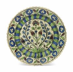 A DAMASCUS POTTERY DISH | SYRIA, 17TH CENTURY | All other categories of objects, pottery | Christie's