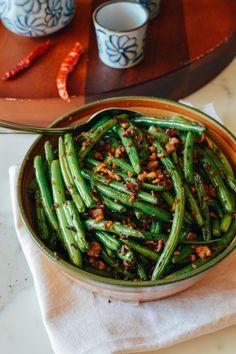 Sichuan Dry Fried Green Beans, 干煸四季豆