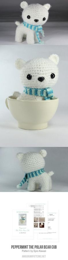 Peppermint The Polar Bear Cub Amigurumi Pattern
