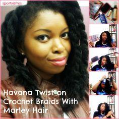 Main-Havana Twist on Crochet Braids With Marley Hair http://sportyafros.com/hair/havana-twist-crochet-braids-using-marley-hair/