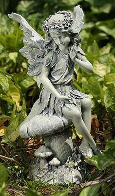 garden fairies statues. Angel With Harp Garden Statue - Google Search Fairies Statues