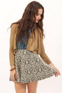 Tapestry Skater Skirt