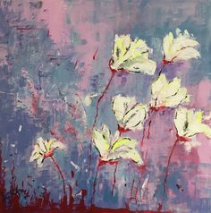 White Flowers - http://www.contemporary-artists.co.uk/paintings/white-flowers/