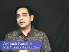 Web Analytics Training & Certification: Improve site performance and ROI. Avinash Kaushik: Web Analytics Faculty Chair  #marketmotive
