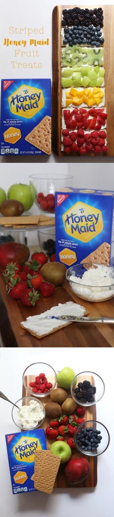 Your kids will be excited to eat these colorful HONEY MAID and fruit snacks after school. [Ad]