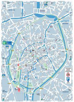 bruges belgium attractions | Brugge Tourist Map - Brugge Belgium • mappery