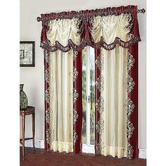 Read reviews and buy GoodGram Danbury Embroidered Window Curtain & Valance Treatments - Cranberry Single at Target. Choose from contactless Same Day Delivery, Drive Up and more. Window Drapes, Valance Curtains, Burgundy Curtains, Window Treatments, Living Room Decor, Target, Delivery, Indoor, Modern