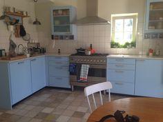 Blauwe piet zwart keuken bruynzeel