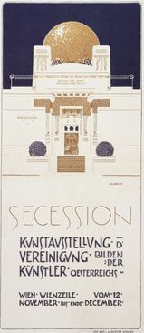 By Joseph Maria Olbrich (1867-1908), 1898, Vienna Secession. (Austrian) The Vienna Secession group's construction of its own building, in 1897–98, epitomized the city's importance as a center of opposition to the established artistic order.