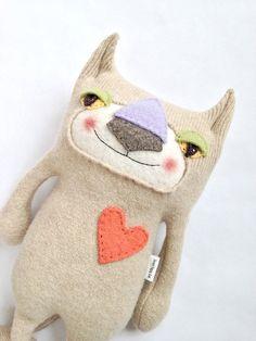 Sweater Kitty Repurposed Ralph Lauren sweater by sweetpoppycat