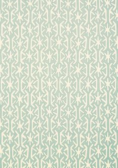 Rinca #wallpaper in #aqua from the Biscayne collection. #Thibaut