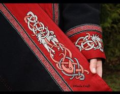 I need to do something like this to lengthen the sleeve of my serk. Trim on eastern viking tunic