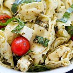 Easy Tortellini Pesto Salad