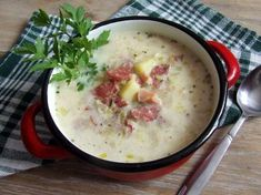 Zupa musztardowa Cooking Recipes, Healthy Recipes, Soups And Stews, Cheeseburger Chowder, Food Porn, Food And Drink, Tasty, Lunch, Baking