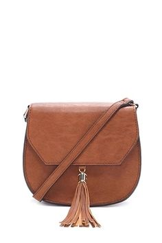 Faux Leather Saddle Crossbody | Forever 21 #accessorize