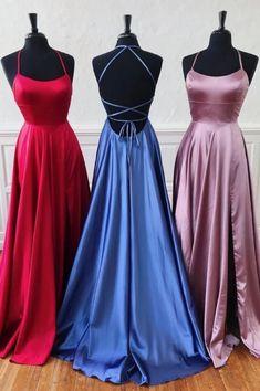 School Dance Dresses, Senior Prom Dresses, Pretty Prom Dresses, Simple Prom Dress, Prom Outfits, Backless Prom Dresses, Hoco Dresses, Bridesmaid Dresses, Evening Dresses