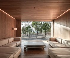 Located in Fontanars dels Alforins, Valencia, Spain, Cottage in the Vineyard is a retreat designed by Ramón Esteve Estudio in Cottage Design, House Design, Technical Architect, Leather Sofa Set, Modern Cottage, Outdoor Furniture Sets, Outdoor Decor, House And Home Magazine, Contemporary Architecture