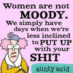 Mood swings.....