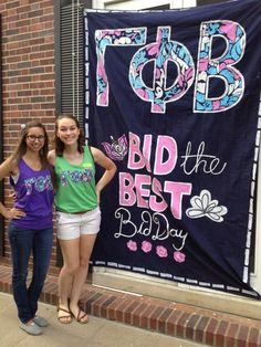 Gamma Phi Beta Bid Day Banner