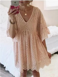 30 Chic Summer Outfit Ideas - Street Style Look. The Best of summer outfits in 2017 30 Chic Summer Outfit Ideas - Street Style Look. The Best of summer outfits in Moda Boho, Eyelet Dress, Lace Dress, Eyelet Lace, Babydoll Dress, Boho Dress, Chic Dress, Dress Skirt, Mode Outfits