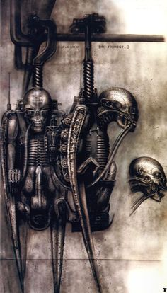 THE TOURIST I.......BIOMECHANIC BIRD ROBOT...........BY H.R. GIGER..............