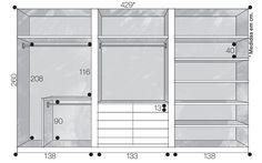 Projeto do armário com medidas.: