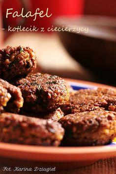 Jak pączek w maśle...                                      Blog kulinarny- smacznie,zdrowo,kolorowo: Falafel - kotleciki z ciecierzycy Falafel, Tahini, Ethnic Recipes, Blog, Blogging, Falafels