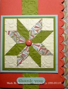 CASE_Karen_Barber_Quilted_Card_bensarmom by bensarmom - Cards and Paper Crafts at Splitcoaststampers
