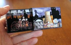 Della Mortika in a Matchbox Miniature scene by SuitcaseDollhouse
