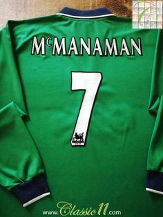 Official Reebok Liverpool away long sleeve football shirt from the 1999/00 season. Complete with McManaman #7 on the back of the shirt in official Premier League lettering.