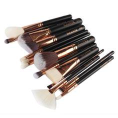 HP95(TM) Cosmetic Makeup Brush Brushes Set Foundation Powder Eyeshadow Tools (15pcs-Black) >>> See this great image  : Makeup palette
