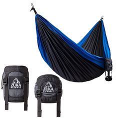 Double Camping Hammock - Lightweight Nylon Parachute Hammock with Compression System *** See this awesome item shown here  : Camping gear