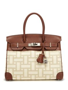 """Rare """"Mosaic"""" Birkin 30cm by Hermès. Beautiful, but the price would make you speechless ($12,000 at Gilt).  Ohhh, to be rich :("""
