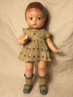 """Vintage Composition EFFANBEE PATSY Doll... 14"""" 1930's Antique Blue Eyes #Dolls"""