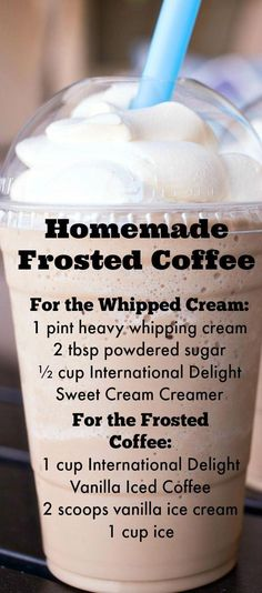 Frosted Coffee Homemade Frosted Coffee ~ Delicious sweet and simple goodness. The perfect coffee treat for the summer!Homemade Frosted Coffee ~ Delicious sweet and simple goodness. The perfect coffee treat for the summer! Non Alcoholic Drinks, Fun Drinks, Yummy Drinks, Healthy Drinks, Beverages, Healthy Food, Cocktails, Nutrition Drinks, Mixed Drinks
