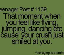 That happened to me this morning. Just because I have been with my crush for 20 years doesn't mean I ever stop being excited to see his smile.