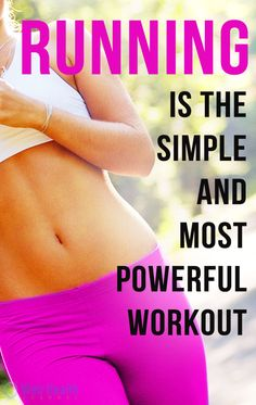 Running is the simple and most powerful workout for women. #fitness