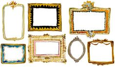 Happy Menocal illustrated frames