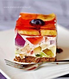kolorowy sernik z galaretkami i owocami Polish Desserts, Polish Recipes, Rainbow Cheesecake, Summer Desserts, Cheesecakes, Summer Time, Nom Nom, Sandwiches, Bakery
