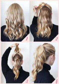Quick Hairstyles for New year eve's Party.
