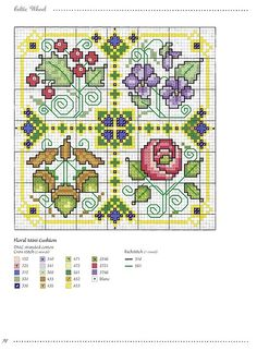 holly / violet / acorn / rose cross stitch Gallery.ru / Фото #92 - Игольницы - elena-555