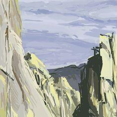 Digital painting, colour study.