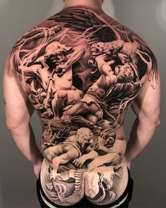 75 Badass Back Tattoos by Some of the World's Best Artists Back Tattoos, Great Tattoos, Tatoos, Lil B Tattoo, Shape Tattoo, Best Artist, Thankful, Rock, Instagram