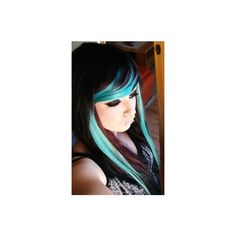 Hair Chalks in practice! via Polyvore featuring beauty products, haircare and hair color