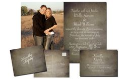 Photo Wedding Invitation Package, PRINTABLE, Digital File Wedding Package. $20.00, via Etsy.